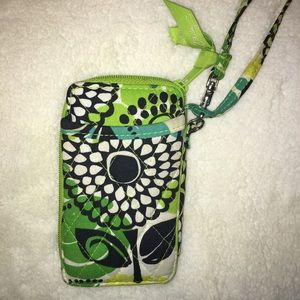 Vera Bradley Wristlet in pattern Limes Up